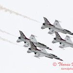 1102 - US Air Force Thunderbirds Sunday performance in F16 Fighting Falcons at the 2012 Rockford Airfest - Chicago Rockford International Airport - Rockford Illinois - Sunday June 3rd 2012