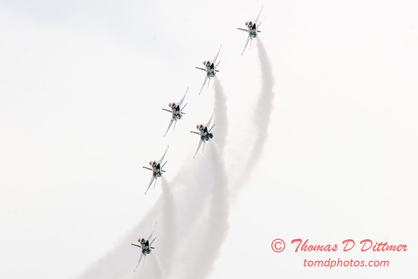 1164 - US Air Force Thunderbirds Sunday performance in F16 Fighting Falcons at the 2012 Rockford Airfest - Chicago Rockford International Airport - Rockford Illinois - Sunday June 3rd 2012