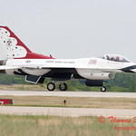 1227 - US Air Force Thunderbirds return to earth after their Sunday performance in F16 Fighting Falcons at the 2012 Rockford Airfest - Chicago Rockford International Airport - Rockford Illinois - Sunday June 3rd 2012