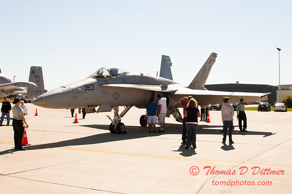 7 - VFA 106 Hornet East - F/A-18 Hornet on display at Wings over Waukegan 2012