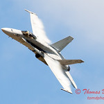 1310 - After Legacy Flight Break-Up, VFA 106 Hornet East F/A-18 flies by Wings over Waukegan 2012