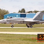 1325 - The VFA 106 Hornet East F/A-18 has landed and will be returning to parking at Wings over Waukegan 2012