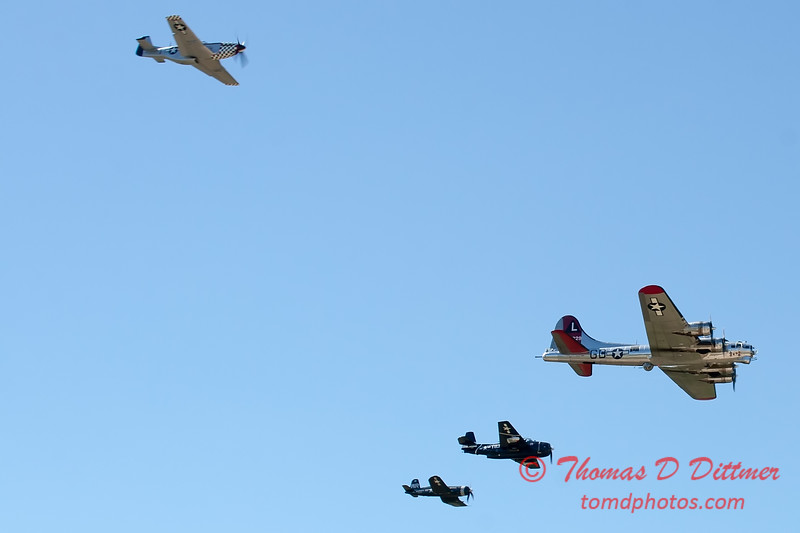 489 - B17 - F4U - P51 - TBM - Special Formation Fly By at the South East Iowa Air Show in Burlington Iowa