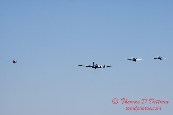 480 - B17- F4U - P51 - TBM - Special Formation Fly By at the South East Iowa Air Show in Burlington Iowa