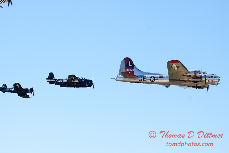508 - B17 - F4U - TBM - Special Formation Fly By at the South East Iowa Air Show in Burlington Iowa