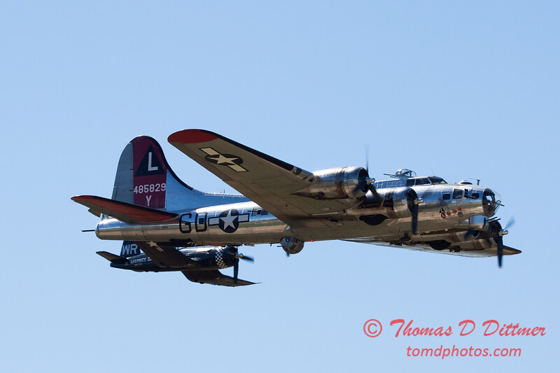 504 - B17 - F4U - TBM - Special Formation Fly By at the South East Iowa Air Show in Burlington Iowa