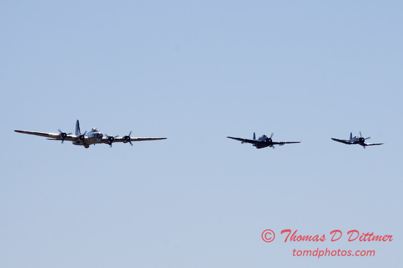 482 - B17- F4U - TBM - Special Formation Fly By at the South East Iowa Air Show in Burlington Iowa