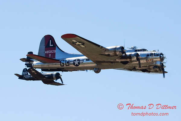 505 - B17 - F4U - TBM - Special Formation Fly By at the South East Iowa Air Show in Burlington Iowa