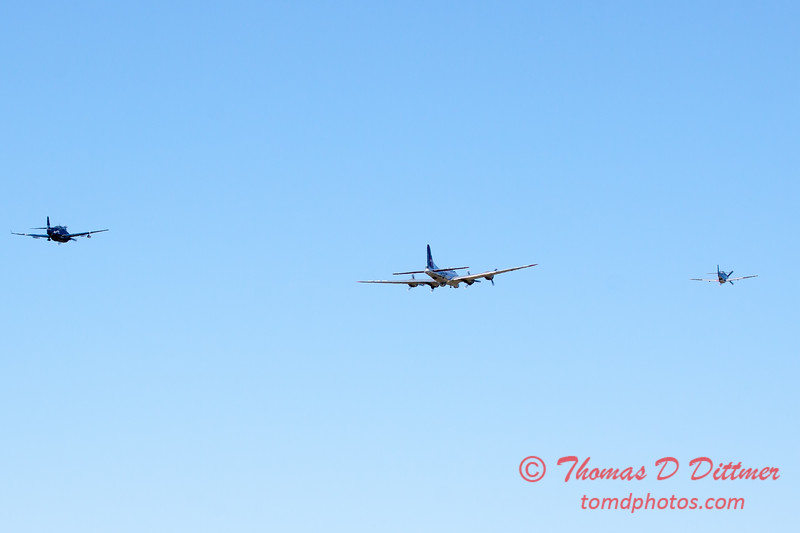 488 - B17 - P51 - TBM - Special Formation Fly By at the South East Iowa Air Show in Burlington Iowa