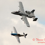"770 - Vlado Lenoch in his P-51 Mustang and A-10 East in the ""Heritage Flight"" at Wings over Waukegan 2012"