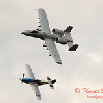 """771 - Vlado Lenoch in his P-51 Mustang and A-10 East in the """"Heritage Flight"""" at Wings over Waukegan 2012"""