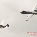 "780 - Vlado Lenoch in his P-51 Mustang and A-10 East in the ""Heritage Flight"" at Wings over Waukegan 2012"
