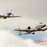"784 - Vlado Lenoch in his P-51 Mustang and A-10 East in the ""Heritage Flight"" at Wings over Waukegan 2012"