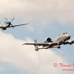"""783 - Vlado Lenoch in his P-51 Mustang and A-10 East in the """"Heritage Flight"""" at Wings over Waukegan 2012"""