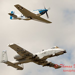 """788 - Vlado Lenoch in his P-51 Mustang and A-10 East in the """"Heritage Flight"""" at Wings over Waukegan 2012"""