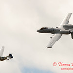 "781 - Vlado Lenoch in his P-51 Mustang and A-10 East in the ""Heritage Flight"" at Wings over Waukegan 2012"