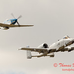 "785 - Vlado Lenoch in his P-51 Mustang and A-10 East in the ""Heritage Flight"" at Wings over Waukegan 2012"