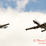 """793 - Vlado Lenoch in his P-51 Mustang and A-10 East in the """"Heritage Flight"""" at Wings over Waukegan 2012"""