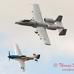 "776 - Vlado Lenoch in his P-51 Mustang and A-10 East in the ""Heritage Flight"" at Wings over Waukegan 2012"