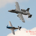 "775 - Vlado Lenoch in his P-51 Mustang and A-10 East in the ""Heritage Flight"" at Wings over Waukegan 2012"