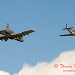 """790 - Vlado Lenoch in his P-51 Mustang and A-10 East in the """"Heritage Flight"""" at Wings over Waukegan 2012"""