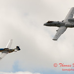 """782 - Vlado Lenoch in his P-51 Mustang and A-10 East in the """"Heritage Flight"""" at Wings over Waukegan 2012"""