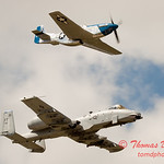 """789 - Vlado Lenoch in his P-51 Mustang and A-10 East in the """"Heritage Flight"""" at Wings over Waukegan 2012"""