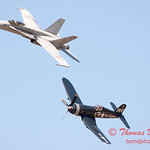 1290 - F4U Corsair and VFA 106 Hornet East F/A-18 US Navy Legacy Flight performing at Wings over Waukegan 2012