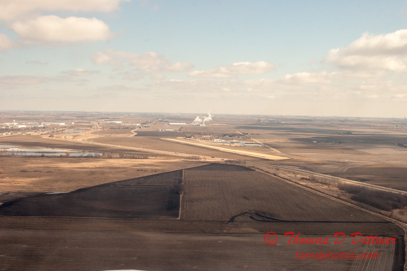 164 - Aerial Photo of Ogle & Lee Counties -  North Central Illinois - February 19 2012
