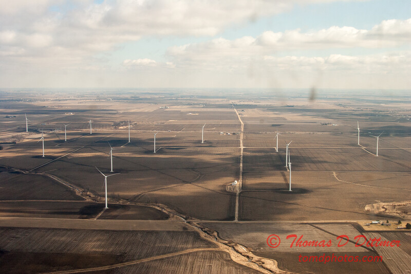 105 - Aerial Photo of Ogle & Lee Counties -  North Central Illinois - February 19 2012