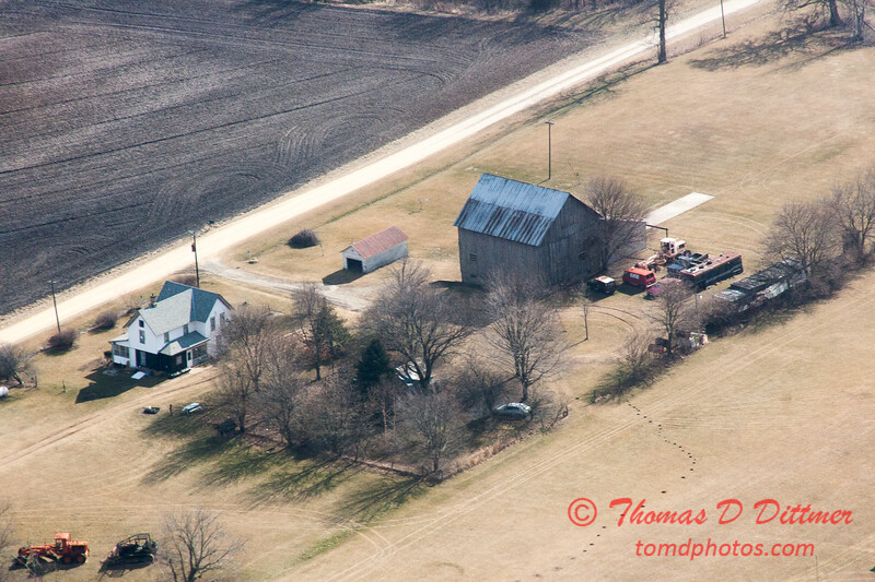 122 - Aerial Photo of Ogle & Lee Counties -  North Central Illinois - February 19 2012