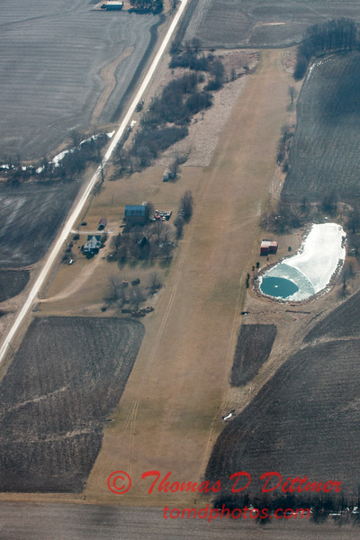 77 - Aerial Photo of Ogle & Lee Counties -  North Central Illinois - February 19 2012