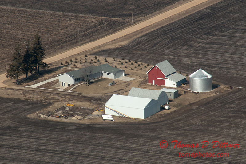 128 - Aerial Photo of Ogle & Lee Counties -  North Central Illinois - February 19 2012