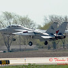 6 - The arrival of a F14 Tomcat completing its last flight -  Bloomington Illinois - April 13 2006
