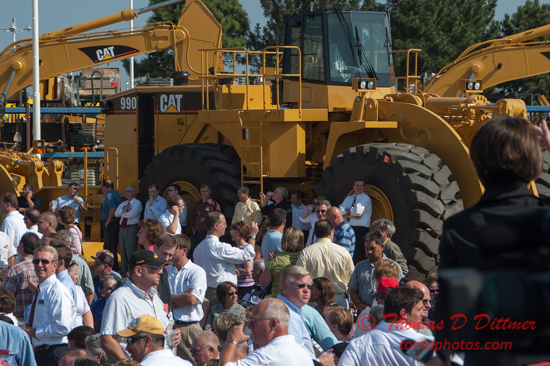 15 -President George W Bush signs the Transportation bill into law at the Caterpillar Plant located in Montgomery Illinois - August 2005