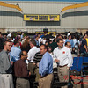 10 -President George W Bush signs the Transportation bill into law at the Caterpillar Plant located in Montgomery Illinois - August 2005