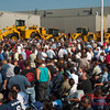 11 -President George W Bush signs the Transportation bill into law at the Caterpillar Plant located in Montgomery Illinois - August 2005