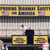 4 -President George W Bush signs the Transportation bill into law at the Caterpillar Plant located in Montgomery Illinois - August 2005