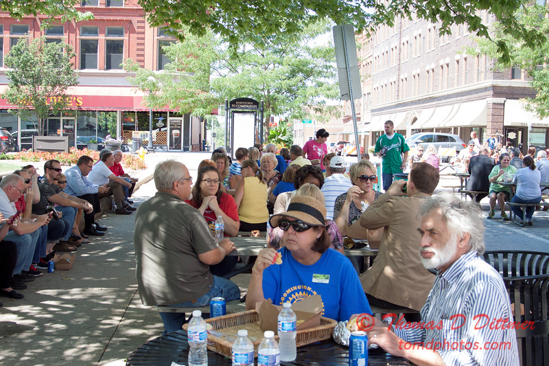 38 - 2015 Bloomington - Normal Sunrise Rotary Brats & Bags - Downtown Square - Bloomington Illinois