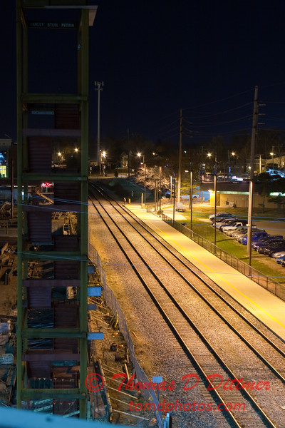 2011 - 4/2 - Night time in Uptown Normal Illinois - 1