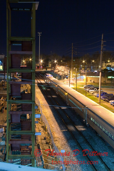 2011 - 4/2 - Night time in Uptown Normal Illinois - 6