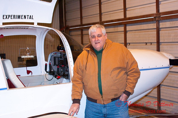 2011 - 1/8 - Larry Hatfield and Home built experimental aircraft - Central Illinois Regional Airport - Bloomington Illinois - 2