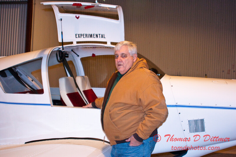 2011 - 1/8 - Larry Hatfield and Home built experimental aircraft - Central Illinois Regional Airport - Bloomington Illinois - 4