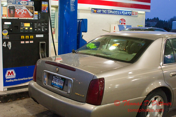 2011 - 1/7 - My automobile at a fueling station - Circle K - Normal Illinois - 2