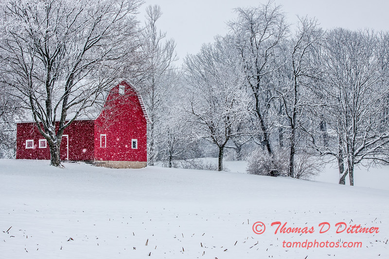 (# 1) Barn in the snow