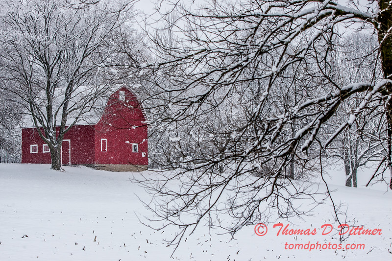 (# 4) Barn in the snow