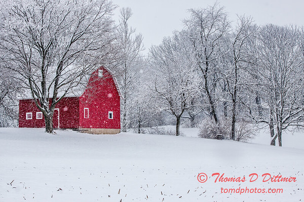 (# 2) Barn in the snow