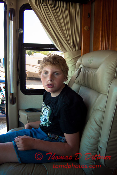 (# 7) Aubrey surveys a motor home