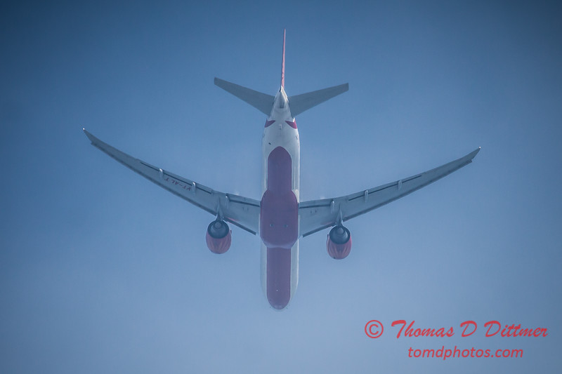 (# 4) Air India Boeing 777 overflight