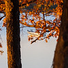 1 - A fisherman takes advantage of good weather in late October on Lake Evergreen - Hudson Illinois - Sunday October 29 2006